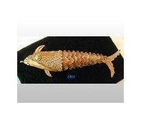 Filigree Scent Box Articulated Fish Charm SILVER 3""