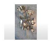 "Sterling and Rhinestones Roses Pin Brooch 4"" Rose"