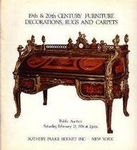 19-20 C. Furniture & Rugs Sotheby 1976  Auction Catalog