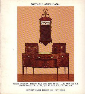 Notable Americana   Sotheby May 10,1974 Auction Catalog