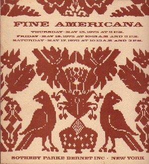 Fine Americana  May 1975 Sotheby Auction Catalog
