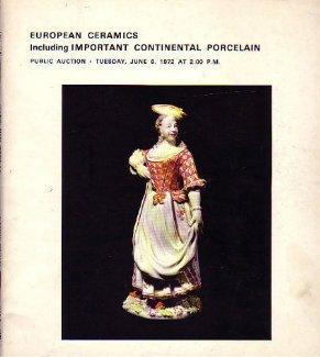 European Ceramics Porcelain Sotheby June 6, 1972
