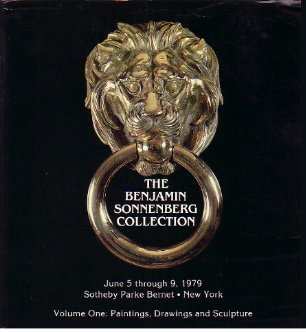Benjamin Sonnenberg Collection 1979 Sotheby Catalog