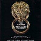 Benjamin Sonnenberg Collection 1979 Sotheby Catalog