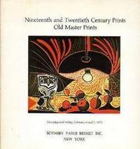 19-20C Old Master Prints  Prints Sotheby 1975 Auction Catalog
