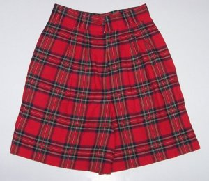 FUNTASIA TOO Red Plaid Walking Shorts/Skort Girls Sz. 8