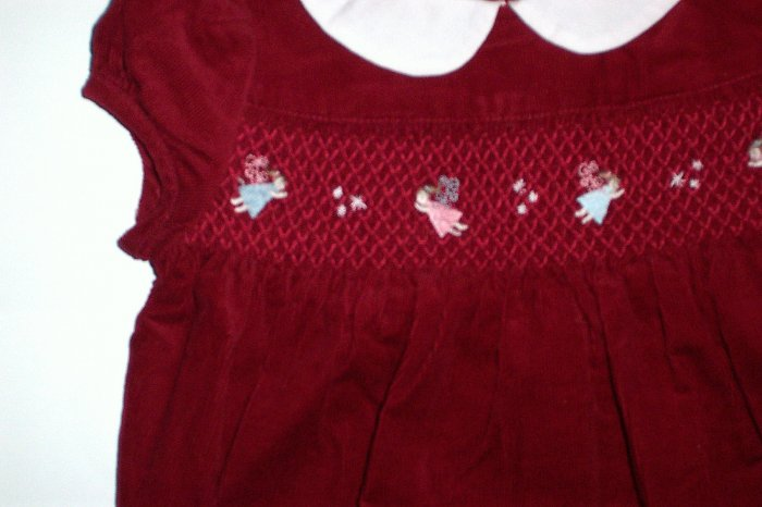 Janie and Jack SNOW ANGEL Red Romper Girls Sz. 6 to 12 Mos.