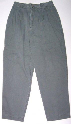 LEE Womens Casual Green Boot Leg Pants/Jeans Sz. 12 Petite