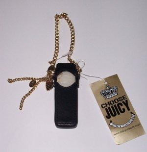 JUICY COUTURE Black Leather iPOD Shuffle Case