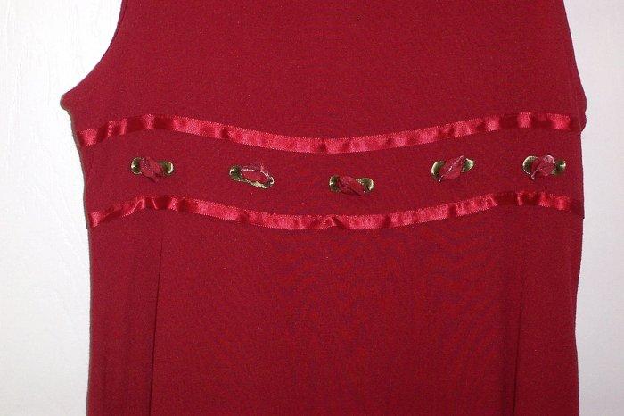 BONNIE JEAN Red Sleeveless Dress Girls Size 10