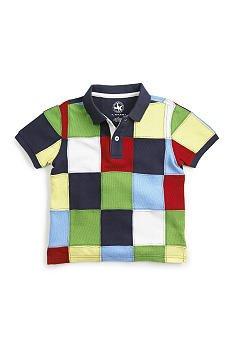 J KHAKI Short Sleeve Patchwork Polo/Top Boys 4T/4