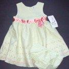 B.T. KIDS Green Stripe Sundress/Dress Girls 18 Months