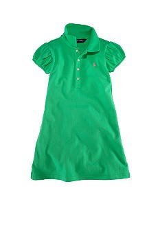 RALPH LAUREN Green Polo Dress - Girls 4