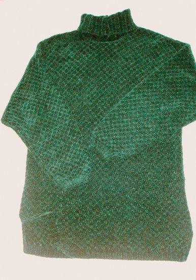 TALBOTS Long Dark Green Chennile Sweater Womens Small