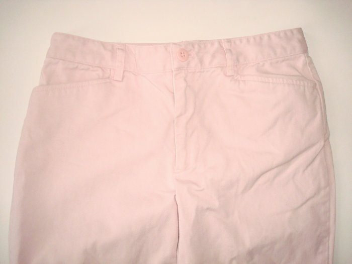 RALPH LAUREN Pink Cotton Cropped Pants Womens Sz. 2