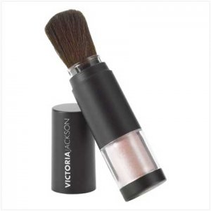 Victoria Jackson Shimmer Powder Brush - Baby Doll Pink