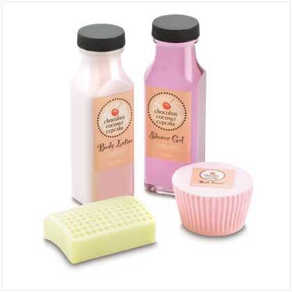 Chocolate Coconut Cupcake Bath Gift Set