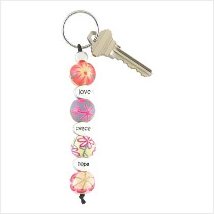Love Floral Keychain