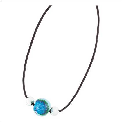 Peacock Beaded Necklace