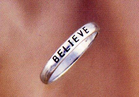 Believe Sterling Silver Ring