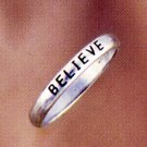 Believe Sterling Silver Ring