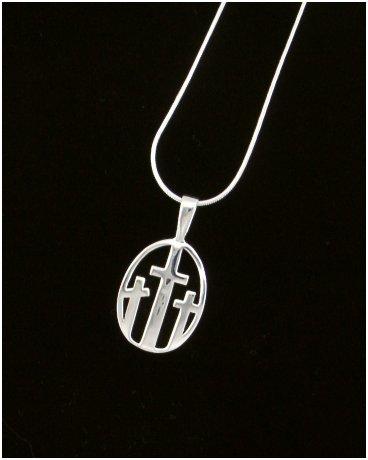 3 Crosses Silver Charm