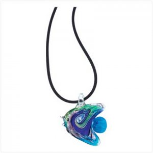 Angel Fish Glass Necklace