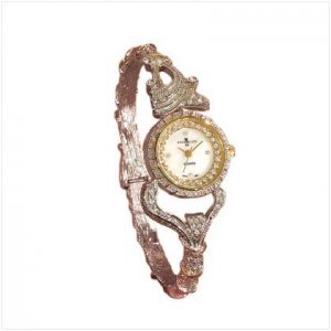 TWO-TONE BANGLE WATCH