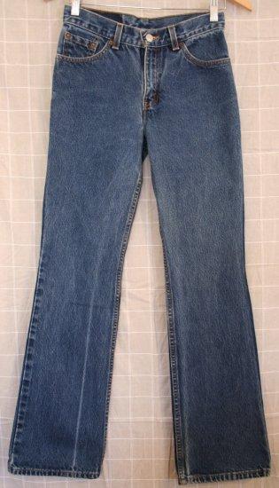 Junior Levi Red Tab Jeans 5 JR. M Boot Cut Slim USA VGC