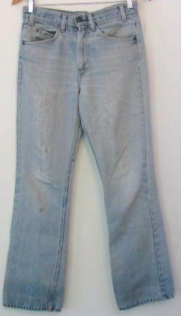 Vintage Levi Strauss Hige Orange Tab USA Worn Thin Thrashed