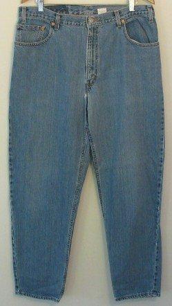 *Vintage Worn Levi Strauss 560 Men's Blue Jeans USA Thrashed Nice 36 x 32