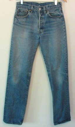 Vintage Levi 501 Blue Jeans Hige Selvage USA 28 x 33