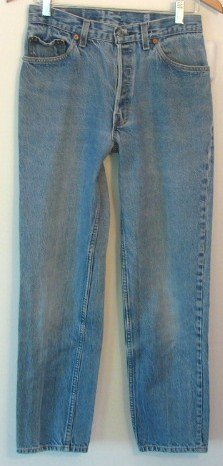 Vintage Levi 501 Blue Jeans Hige Selvedge USA 28 x 30