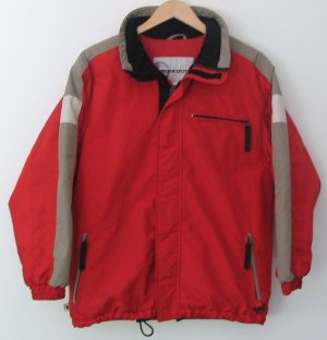 *Boys BLACK DOT BOARDWEAR Snowboard Jacket Red L 14-16