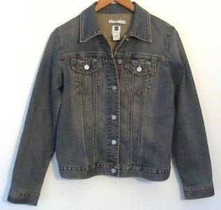 *Womens Gap Stretch Jean Jacket. Medium  2 Pocket Button