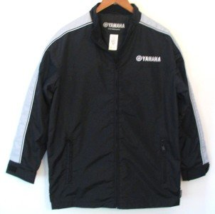 Mens Black YAMAHA MOTOR Jacket Nylon w/Urethane coating