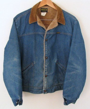Men's Size 44 Vintage Maverick 10 oz Jean Jacket USA