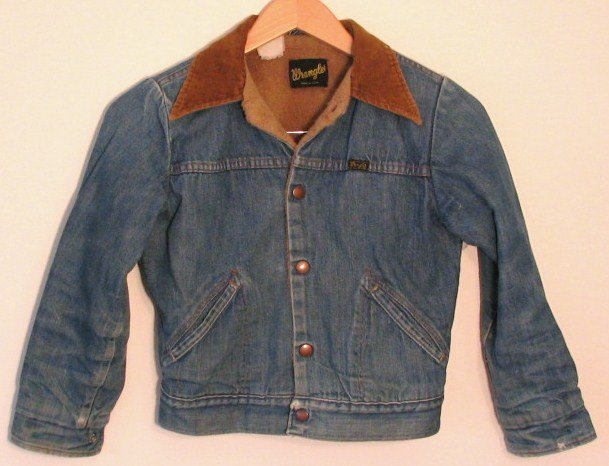 *Boys Vintage Wrangler Western Lined Denim Jean Jacket USA