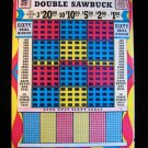 Vintage DOUBLE SAWBUCK 25 cent Punchboard NEW USA