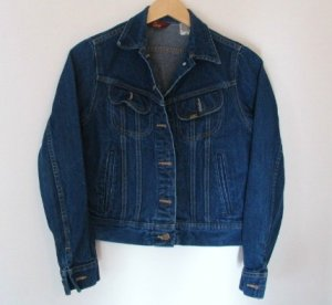 *Vintage Womens Ms Lee Unlined Denim Jean Jacket Size 7/8 USA