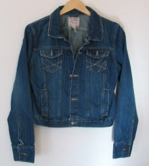 *Misses Aeropostale Unlined Denim Jean Jacket Size L
