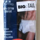 *3 Pair STAFFORD Full-Cut Briefs 50 Big&Tall White Discontinued