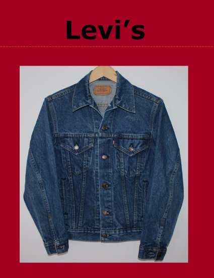 Vintage Classic Mens LEVI Red Tab Unlined Denim Trucker Jean Jacket Size 34R Made in USA 70506-0216