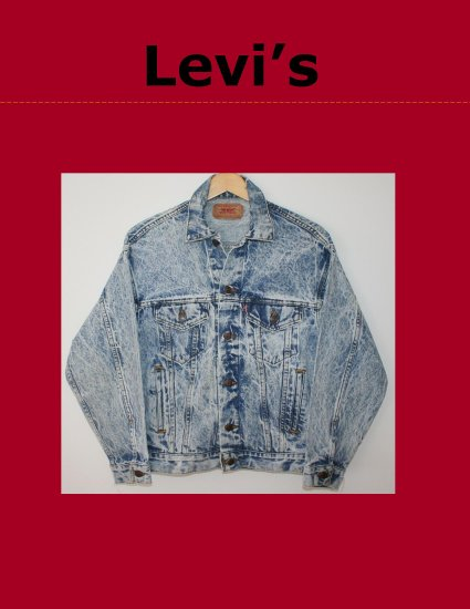 Vintage 80's Classic Mens LEVI Red Tab Unlined Acid Wash Denim Trucker Jean Jacket XS USA 70507