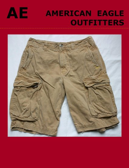 Mens Men's AE AMERICAN EAGLE OUTFITTERS  Utility Cargo Short Size 34