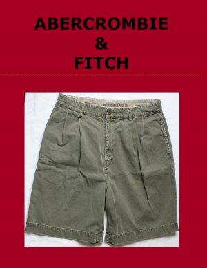 Mens Men's ABERCROMBIE & FITCH CO. Preppy Twill Short Size 34