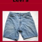 Men's Levi Strauss Orange Tab 550 Relaxed Fit Jean Shorts Size 31