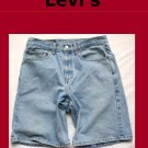 Men's Levi Strauss Red Tab 550 Relaxed Fit Jean Shorts Size 32