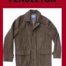 Men's PENDLETON Wool Overcoat Doublure Lining Size Medium