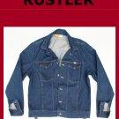 Used Men's Vintage Rustler Unlined Denim Jean Jacket Size XL USA